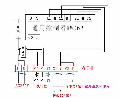 西门子电动调节阀接线图