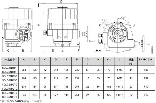 西门子sql361b50蝶阀电动执行器